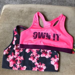 Old navy danskin t back exercise bras new  pink
